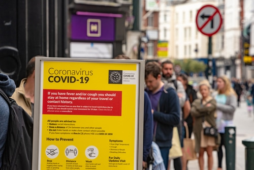 COVID-19 information sign